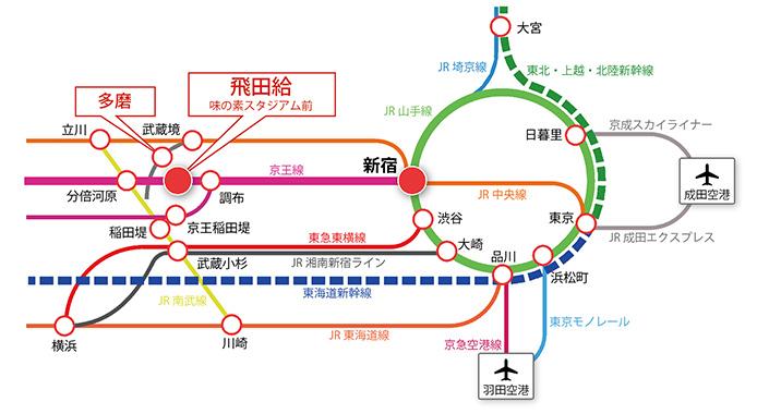 電車利用のご案内 路線図